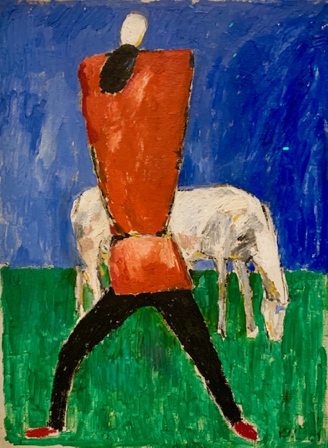 Kazimir Malevich « White horse », 1930-31, from exhibition «  Rouge », Grand Palais, image artdecision. eu